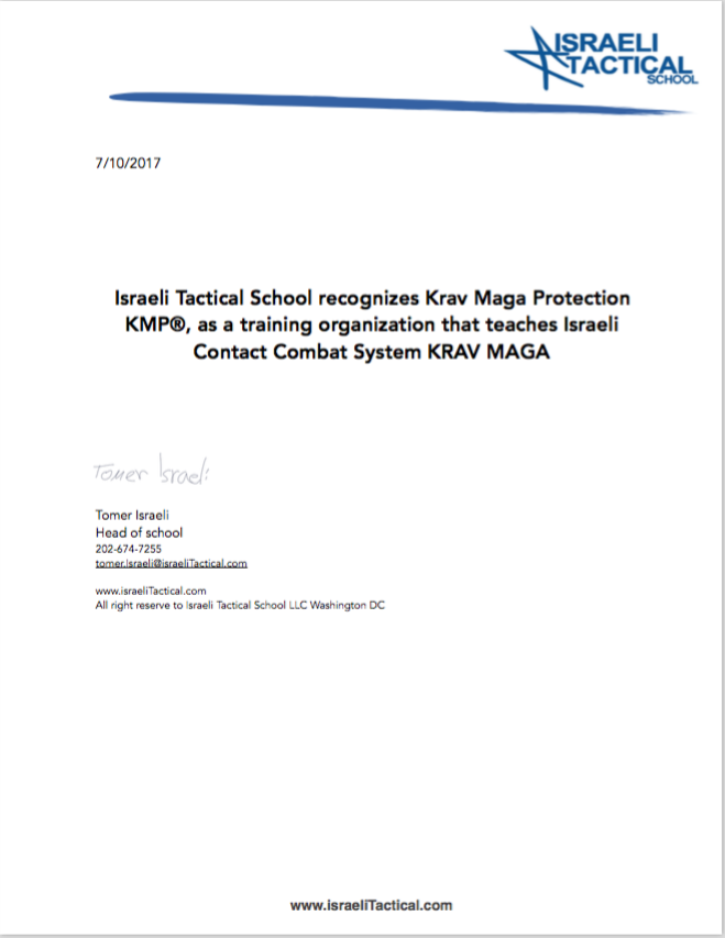 ISRAELI TACTICAL SCHOOL - KRAV MAGA PROTECTION
